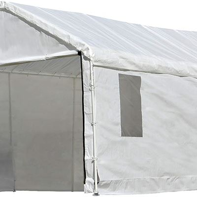 New ShelterLogic 10x20 Canopy Enclosure Kit with Windows for 1-3/8-Inch Frame (White)