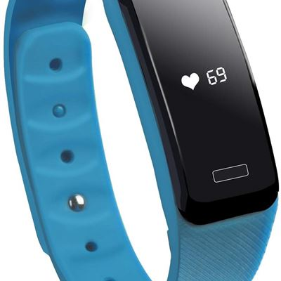 NEW COOSA Fitness Tracker with Heart Rate Monitor Wireless Bluetooth Touch Screen Smart Watch Healthy Wristband (Blue)