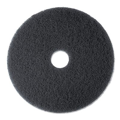 "NEW 3M Stripper Floor Pad 7200, 13"", Black -Includes Five Pads"