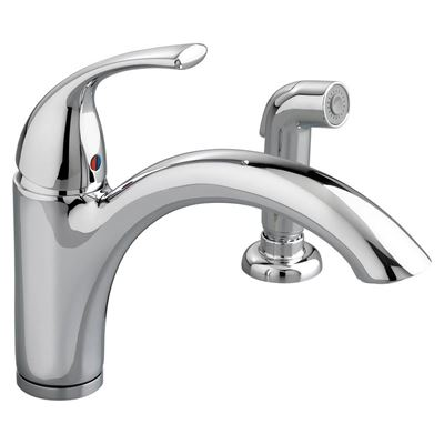 American standard 4433.001.002 quince single control kitchen faucet with side spray - chrome