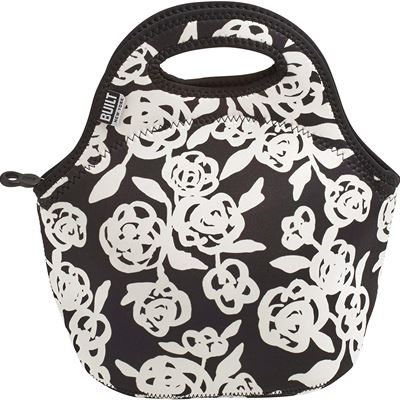 NEW Built NY 5158468CAN Gourmet Getaway Neoprene Lunch Tote, Garden Rose, Black/White
