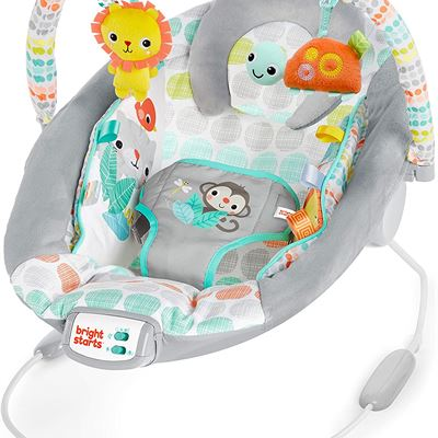 NEW Bright Starts Whimsical Wild Cradling Bouncer Seat with Soothing Vibration & Melodies