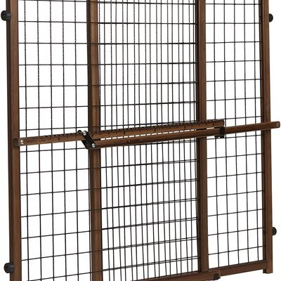 NEW Evenflo Position and Lock Tall and Wide Baby Gate, Farmhouse Collection