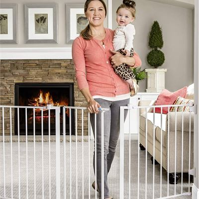 NEW Regalo 76 Inch Super Wide Configurable Baby Gate, Includes 4 Pack of Wall Mounts and Hardware