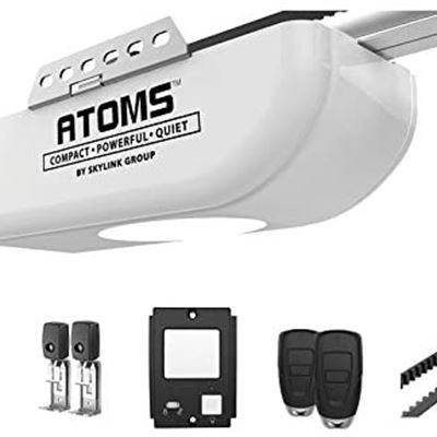 NEW Atoms AT-1622BK � by Skylink 1/2 HPF Garage Door Opener with Extremely Quiet DC Motor, Built-in Led Light, Remote Controls, Keypad Keyless Entry