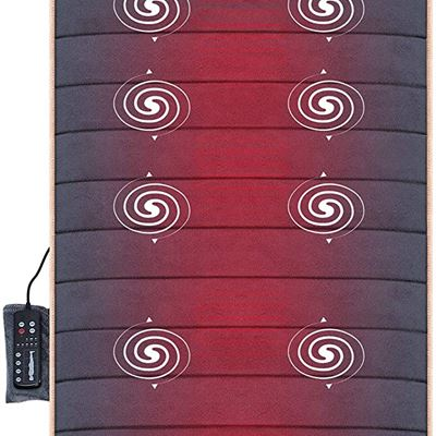 NEW Massage Mat with 10 Vibrating Motors and 4 Therapy heating pad Full body Massager Cushion for Relieving Back lumbar leg Pain Snailax