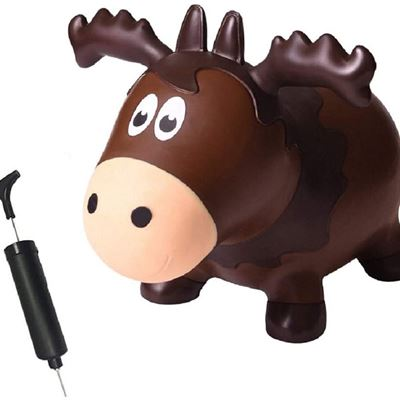 NEW Farm Hoppers - Award Winning Inflatable Bouncing Moose Wildlife Hopper with Pump