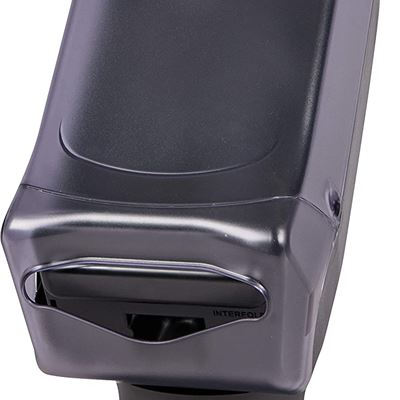 "NEW San Jamar H5005S Venue Fullfold Control Napkin Dispenser with Stand, 500 Capacity, 8"" Width x 17-1/2"" Height x 13"" Depth, Clear"