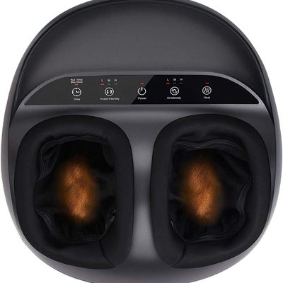 NEW RENPHO Shiatsu Foot Massager Machine with Heat, Deep Kneading Therapy, Air Compression, Relieve Foot Pain from Plantar Fasciitis,Blood Circulation
