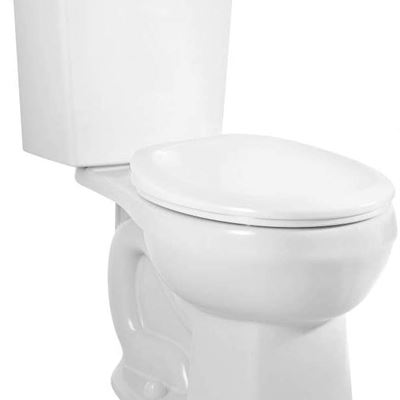 NEW American Standard 2889218.020 H2Option Siphonic Dual Flush Normal Height Round Front Toilet, White, 2-Piece