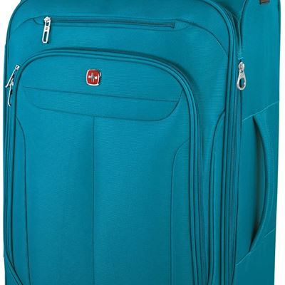 NEW Swiss Gear Marumo Lightweight Expandable Spinner Luggage, 24-Inch, Teal