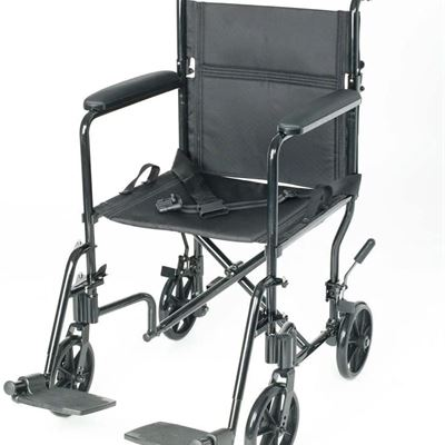 NEW PCP Mobility & Homecare Lightweight Transport Chair, Foldable, Black