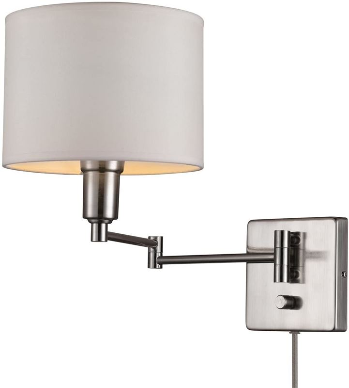 Clearance Depot New Globe Electric 65292 Bernard 1 Light Plug In Or Hardwire Wall Sconce