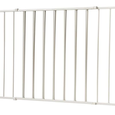 NEW Safety 1st Wide and Sturdy Sliding Gate - Taupe White