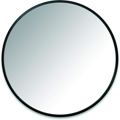 NEW Umbra Hub 24� Round Wall Mirror with Rubber Frame, Modern Room Decor for Entryways, Washrooms, Living Rooms and More, Black