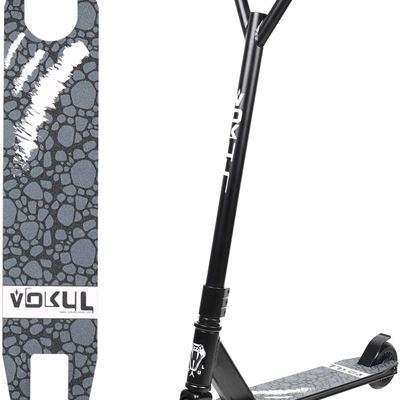 "USED Vokul TRII S2 Entry Freestyle Pro Stunt Scooter for Age 8+; Decent Entry Level Pro Scooter - 19.5"" W*23.8"" H Handlebar - 6061 Aluminum 20"""