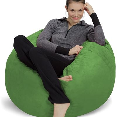 Sofa Sack - Plush, Ultra Soft Bean Bag Chair - Memory Foam Bean Bag Chair with Microsuede Cover - Stuffed Foam Filled Furniture and Accessories