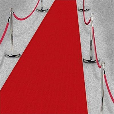 NEW Amscan 15ft Hollywood Party Decoration Fabric Red Carpet Floor Runner