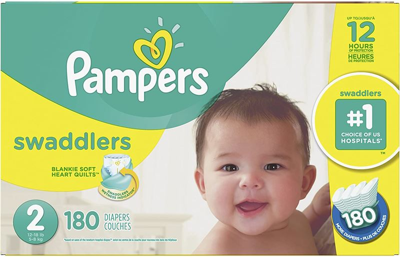 Clearance Depot - NEW Diapers Size 2 - Pampers Swaddlers ...