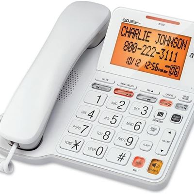 New At&T Corded Phone Big Button With Digital Answering System