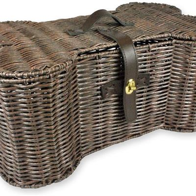 NEW DII Bone Dry Small Wicker-Like Bone Shape Storage Basket, 18x11x7.5, Pet Organizer Bin for Home D?cor, Pet Toy, Blankets, Leashes and Food