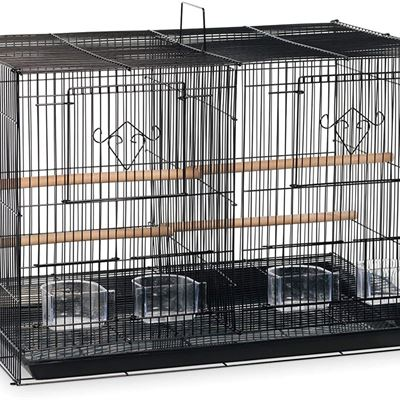 USED Prevue Hendryx SPF063 Divided Flight Cage, Black