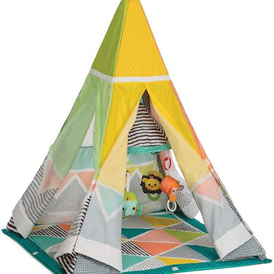 New Infantino Grow-with-Me Playtime Teepee, Multicolor