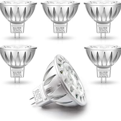 New ALIDE MR16 Led Bulbs Replace 50W Halogen EquivalentBi-pin GU5.3 7W 12V Low Voltage2700K Warm White Spotlight for Outdoor