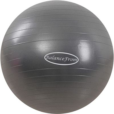 New BalanceFrom Anti-Burst and Slip Resistant Exercise Ball Yoga Ball Fitness Ball Birthing Ball with Quick Pump, 2,000-Pound Capacity