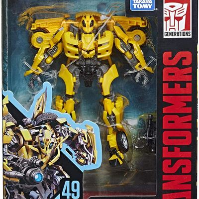 New Hasbro Transformers Toys Studio Series 49 Deluxe Class Transformers: Movie 1 Bumblebee Action Figure