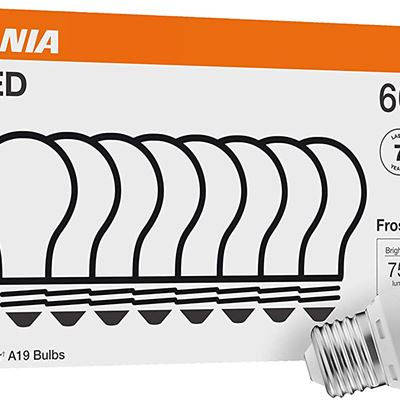 New Sylvania 40821 LED A19 60W Equivalent, Efficient 8.5W, Soft White Color Temperat
