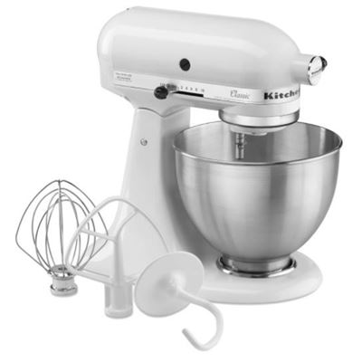 New KitchenAid White Classic Series 4.5-Quart Stand Mixer - K45SSWH