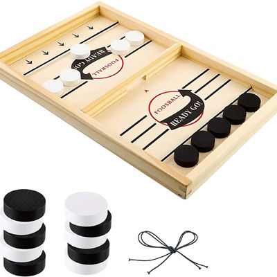 New ELITEVER Large Size Foosball Winner Board Game Fast Sling Puck Sling Foosball, Desktop Battle Hockey Super Winner Foosball Slingshot Game Board
