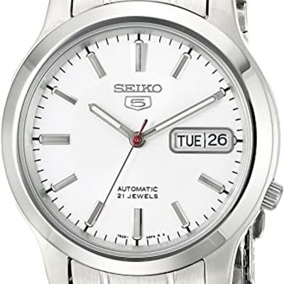 NEW Seiko Men's SNK789 Seiko 5 Automatic White Dial Stainless-Steel Bracelet Watch
