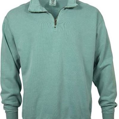 New Comfort Colors Mens Adult 1/4 Zip Sweatshirt