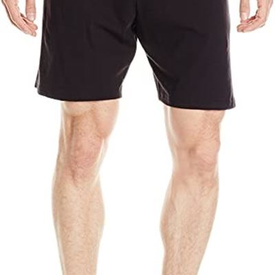 NEW Hanes Men's Jersey Short with Pockets, Medium, Black
