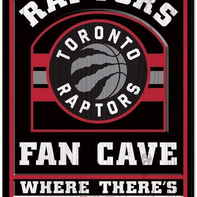 NEW WinCraft NBA Toronto Raptors Fan Cave No Off Season Wood Sign, 11 X 17-Inch