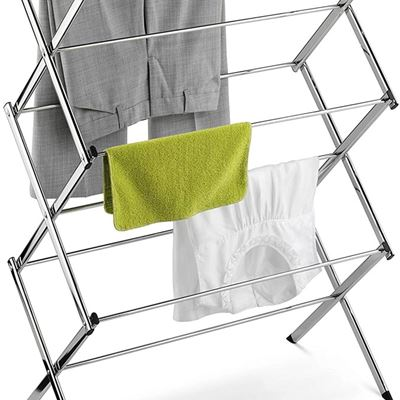 New Honey-Can-Do DRY-01234 Commercial Clothes-Drying Rack, Chrome