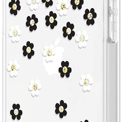 New Kate Spade Protective Hardshell Case Scattered Flowers for iPhone 12 Mini Cases (KSIPH151SFLBW)