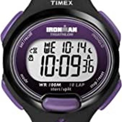 NEW Timex Women's T5K523GP Ironman Traditional 10-Lap Black Resin Strap Watch