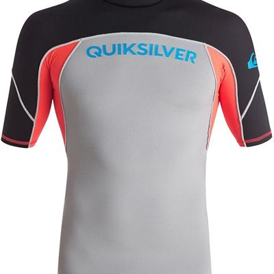 NEW Quiksilver Men's Performer Short Sleeve Rash Guard, X-Large,