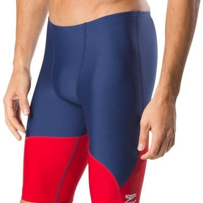 NEW Speedo Spark Splice Jammer, 34, Navy/Red