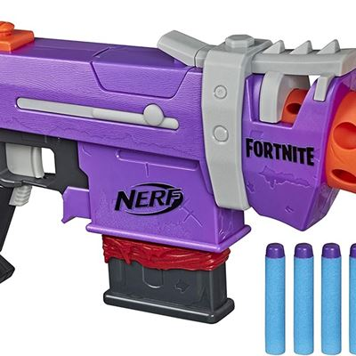 New Nerf Fortnite SMG-E Blaster -- Motorized Dart Blasting -- 6-Dart Clip, 6 Official Nerf Elite Darts -- for Youth, Teens, Adults