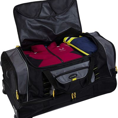 "New Travelers Club 30"" Sierra Madre II 2-Section Drop-Bottom Rolling Travel Duffel Luggage"