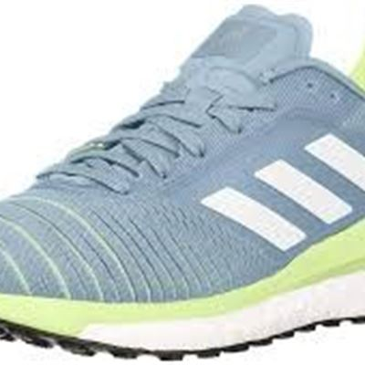 NEW Adidas Women's Solar Glide Running Shoe, Purple, 0, 7, Ash Grey/Footwear White/Hi/Res Yellow